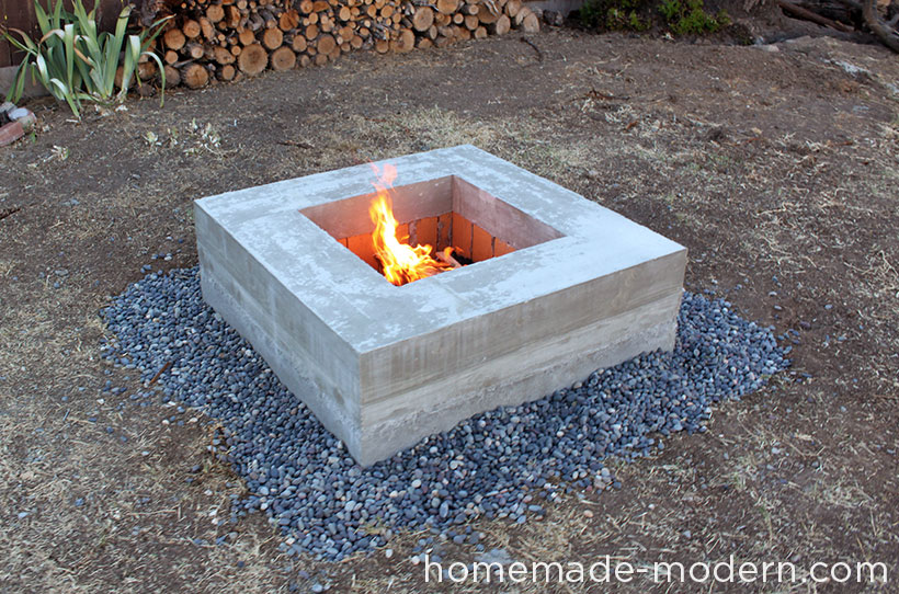 Homemade Modern Diy Concrete Fire Pit Options