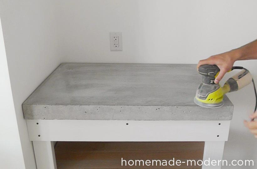 This Concrete Kitchen Countertop Was Built For Less Than 120 The Entire Is A